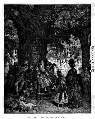 kensington garden tree cartoon humor: 'The Great Tree Kensington Gardens'