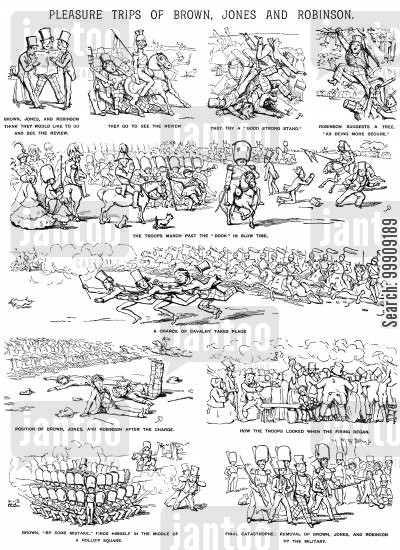 military parade cartoon humor: A Military Review.