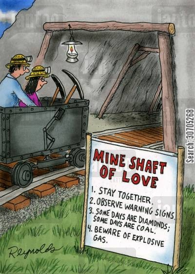 mined cartoon humor: Mine Shaft of Love.