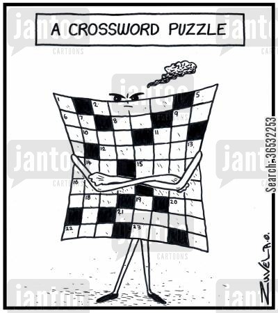 crosswords cartoon humor: A Crossword puzzle.