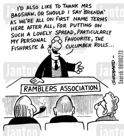 ramble cartoon humor: 'Ramblers association'