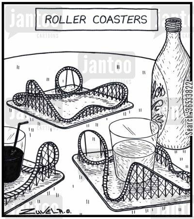 roller coasters cartoon humor: Roller Coasters