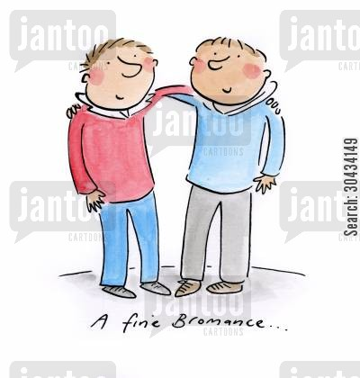 heterosexual cartoon humor: A fine Bromance