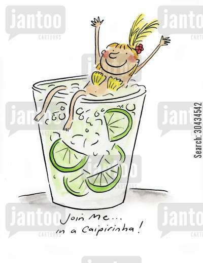 shaker cartoon humor: Join me in a Caiprinha!