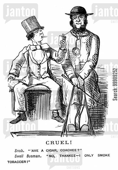 carriages cartoon humor: A Young Man Offers A Cigar.