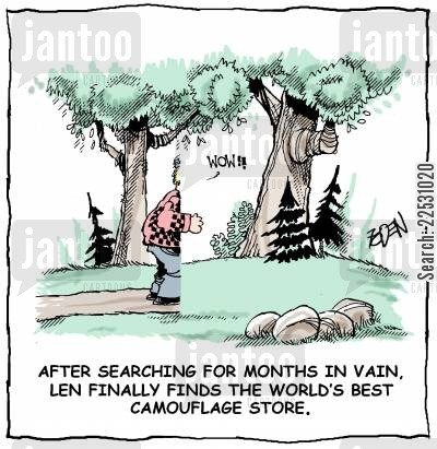 twitchers cartoon humor: The World's best Camouflage Store.