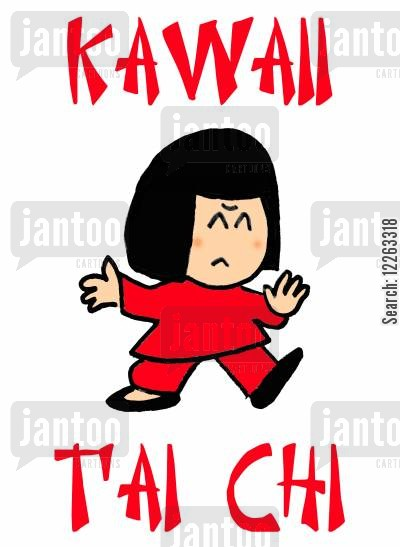 oriental cartoon humor: KAWAII T'AI CHI