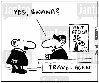 loco lingos cartoon humor: 'Yes, Bwana?'
