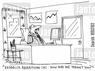 target audiences cartoon humor: 'Kendrick Advertising inc. How may we target you?'