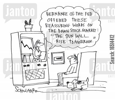 economic report cartoon humor: Business News.