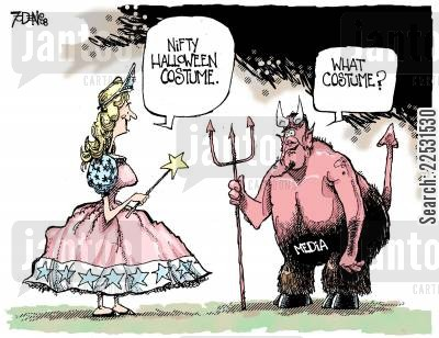costume party cartoon humor: Media Halloween.