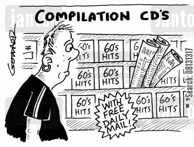 compilation cartoon humor: Compilation CD's - Free newspaper.
