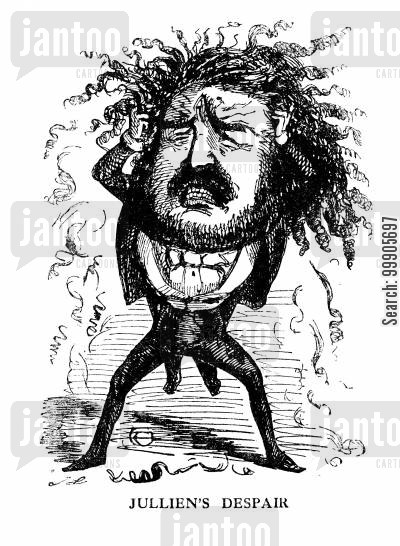 eccentrics cartoon humor: Louis Antoine Jullien