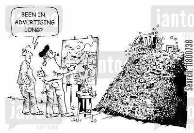 illusory cartoon humor: Been in advertising long?
