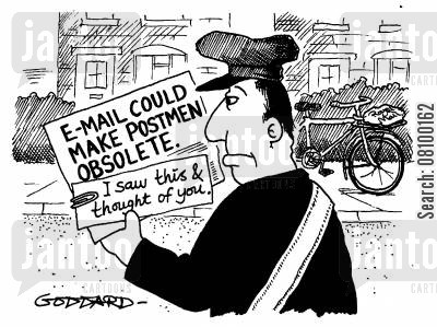 royal mail cartoon humor: E-mail could make postman obsolete - I saw this and thought of you.