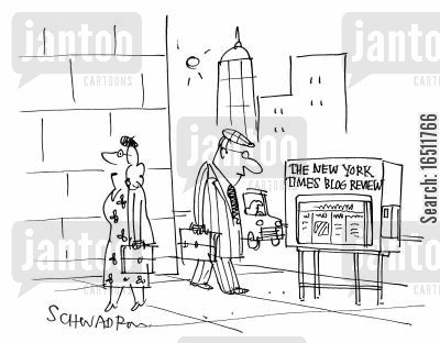 book reviews cartoon humor: The New York Times Blog Review.