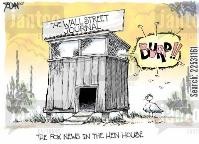 hen house cartoon humor: Wall Street Journal.