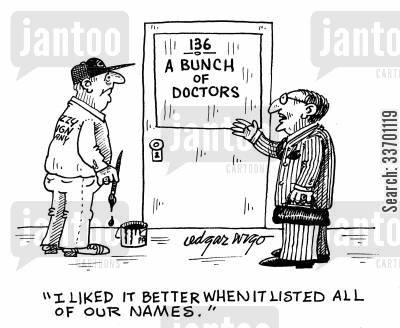 not personal cartoon humor: 'I liked it better when it listed all of our names.'
