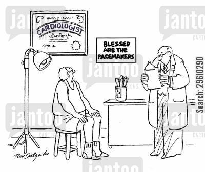 beats cartoon humor: Blessed are the pacemakers.