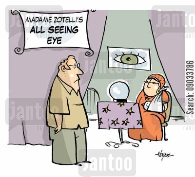 all seeing eye cartoon humor: Madame Zotelli's All seeing Eye