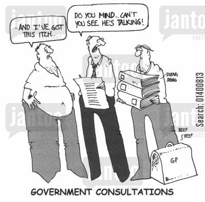 intermediary cartoon humor: Do you mind...can't you see he's talking!
