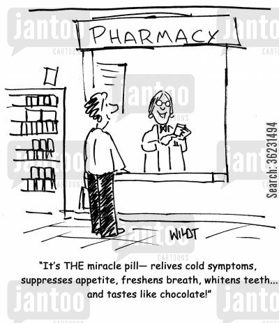 pharmaceuticals cartoon humor: It's THE miracle pill