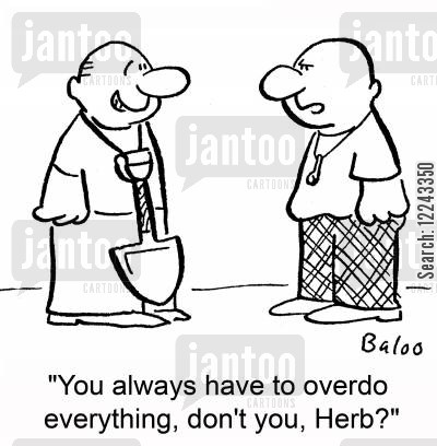 cocaine cartoon humor: 'You always have to overdo everything, don't you, Herb?'
