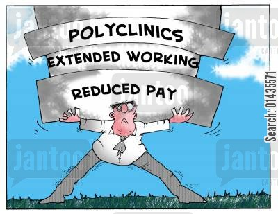 pfi cartoon humor: polyclinics