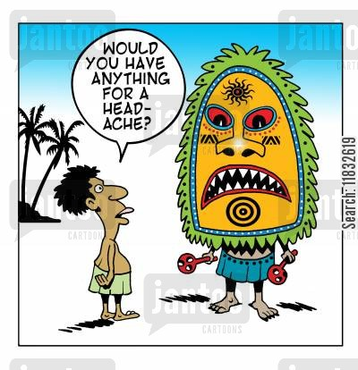 medicine man cartoon humor: Would you have anything for a head-ache?