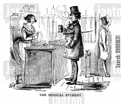 studied cartoon humor: The Medical Student