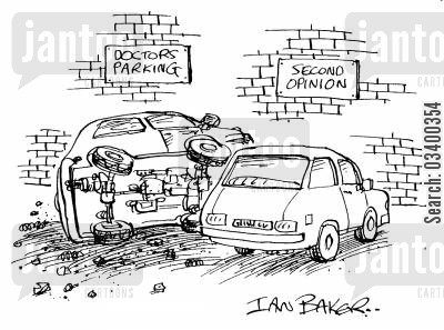 doctors parking cartoon humor: Doctors Parking lot and Second Opinion