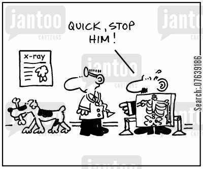 body scans cartoon humor: 'Quick, stop him!'
