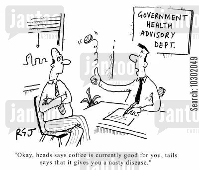 inaccurate advice cartoon humor: Government Health Advisory