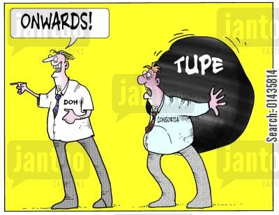 consortia cartoon humor: TUPE