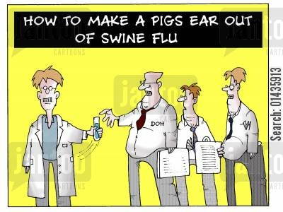 department of health cartoon humor: How To Make A Pigs Ear Out Of Swine Flu.
