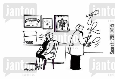 time waster cartoon humor: Circus doctor.