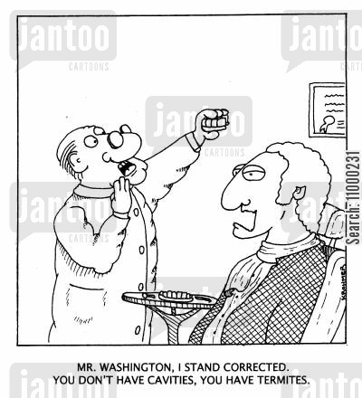 inspections cartoon humor: ...I stand corrected. You don't have cavities, you have termites.