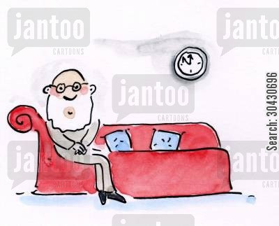 counselling couch cartoon humor: Sigmund Freud.