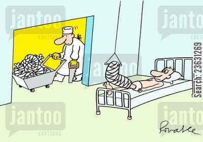 medical centres cartoon humor: Amputee hospital