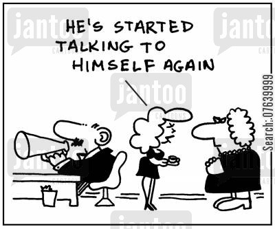 job stresses cartoon humor: 'He's started talking to himself again.'