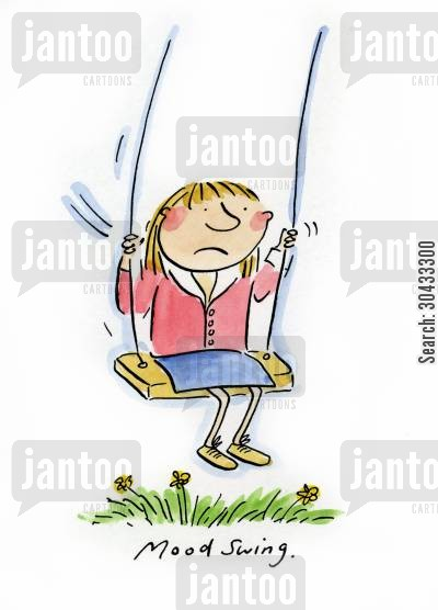 pms cartoon humor: Mood Swing.