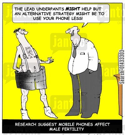 spearm cartoon humor: Research suggests mobile phones affect male fertility: The lead underpants may present an alternative strategy but could I just suggest you use your phone less!