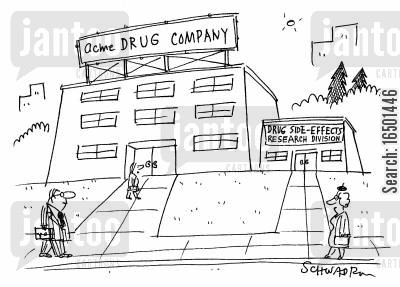 pharmaceutical companies cartoon humor: Drug Side-Effects Research Division