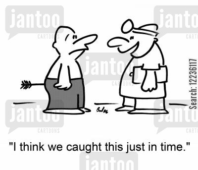 buttocks cartoon humor: 'I think we caught this just in time.'