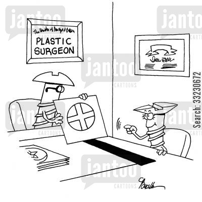 screwdrivers cartoon humor: Screw plastic surgeon.