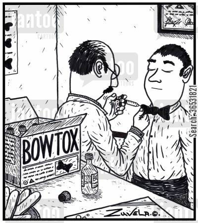 bowtie cartoon humor: Bowtox.