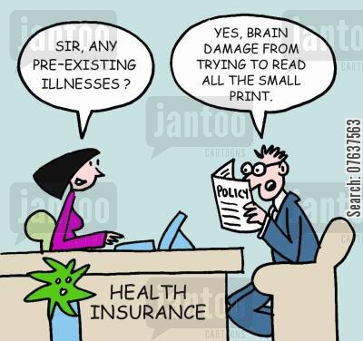 brain damage cartoon humor: 'Any pre-existing illnesses?'