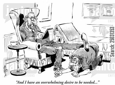 ottomans cartoon humor: 'And I have an overwhelming desire to be needed...'