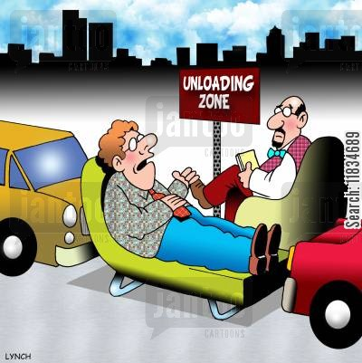 loading zone cartoon humor: Unloading zone.