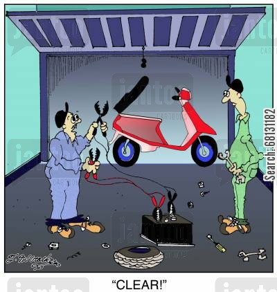 resussitation cartoon humor: CLEAR!